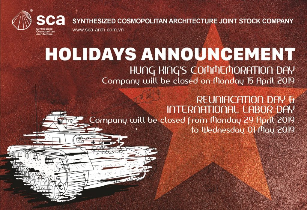 sca holidays announcement 2019